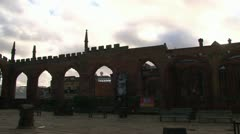 Coventry Cathedral Ruins Stock Footage
