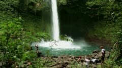 Tropical Jungle Waterfall 11 - stock footage