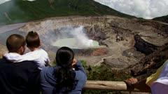 Poas Volcano, Costa Rica 2 Stock Footage