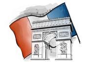 Arch of triumph Stock Illustration