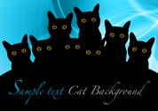 Black cats Stock Illustration