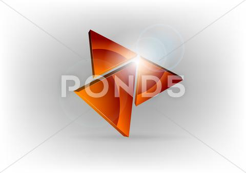Stock Illustration of red triangles