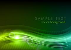 Green dark background Stock Illustration