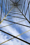 eletric power pylon - stock photo