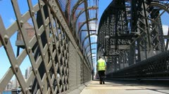 Sydney Harbour bridge glidetrack (8) Stock Footage