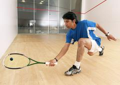 squash player - stock photo