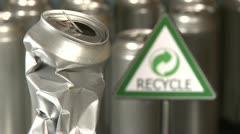 Stock Video Footage of Cans, Recycle