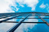 Abstract glass skyscraper. Stock Photos