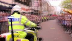 Police Motorcycle Stock Footage