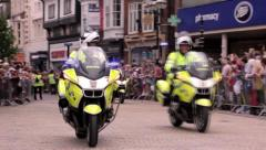 Police Motorcycles Stock Footage