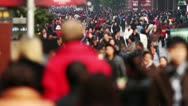 Stock Video Footage of Busy Crowds Traffic Slow Motion