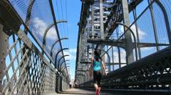 Sydney Harbour bridge glidetrack (14) Stock Footage
