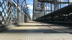Sydney Harbour bridge glidetrack (9) Stock Footage