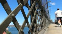 Sydney Harbour bridge glidetrack (7) Stock Footage