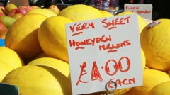 Sweet honey melons - HD Stock Footage