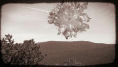 Tunguska Event-Asteroid-Comet-Meteor Collision Stock Footage