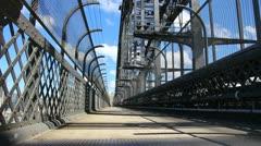 Sydney Harbour bridge glidetrack (11) Stock Footage