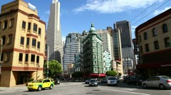 Time lapse of San Francisco downtown at daytime Stock Footage
