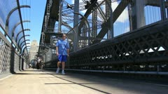 Sydney Harbour bridge glidetrack (16) Stock Footage