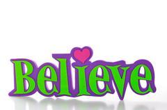 Believe-word Stock Photos