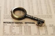 Report - interest rates Stock Photos
