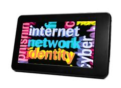Internet network identity Stock Photos