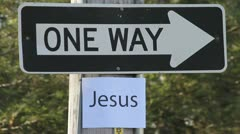 One way - Jesus sign - HD Stock Footage