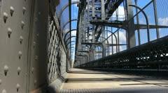Sydney Harbour bridge glidetrack (12) Stock Footage