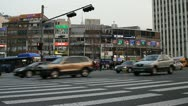 Stock Video Footage of Traffic around Namdaemun market in Seoul
