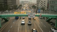 Stock Video Footage of Traffic in downtown Seoul city