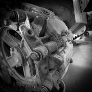 tank wheel - stock photo