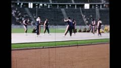 Harlem Globetrotters at Berlin''s Olympic Stadium (Archival 1951) Stock Footage