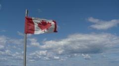 DRAPEAU CANADA Stock Footage
