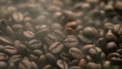 Smoldering from coffee beans, Slow Motion Stock Footage