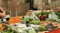 Vegetables and Fruit Food Market Stock Footage