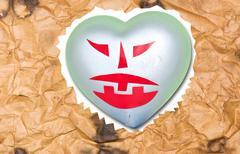 Devil heart. Stock Illustration