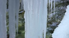 Icicles in Partnachklamm, Germany, Bavaria Stock Footage