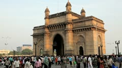 Gateway of India monument, Mumbai, India Stock Footage