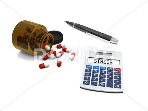 Stock Illustration of stress relief pills