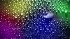 Multicolored drops Stock Footage