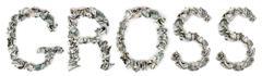 Gross - crimped 100$ bills Stock Illustration