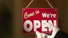 Open Closed sign Stock Footage