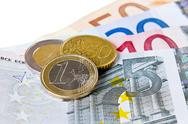 Stock Photo of euro coins and banknotes