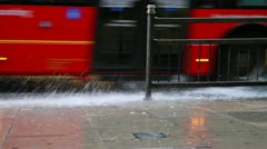 rainy london - HD - stock footage