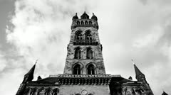 Gothic Tower BW Stock Footage