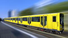 Fast train with motion blur Stock Photos