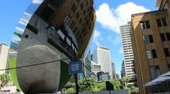 Sydney cityscape & Anish Kapoor art (7) glidetrack Stock Footage