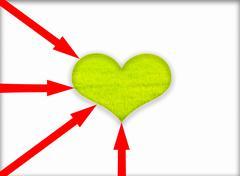Green heart. Stock Illustration