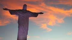 Christ the Redeemer (Cristo Redentor), Rio de Janeiro. HD 1080 (1920x1080) - stock footage