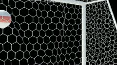 Belarus ball scores in slow motion with alphachannel Stock Footage